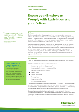 Ensure your Employees Comply with Legislation