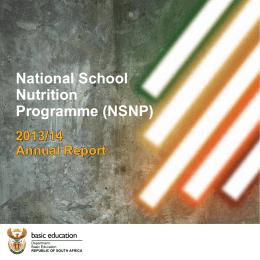 National School Nutrition Programme (NSNP)