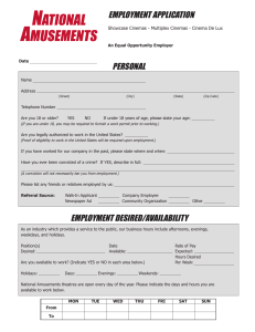 employment application personal employment desired/availability