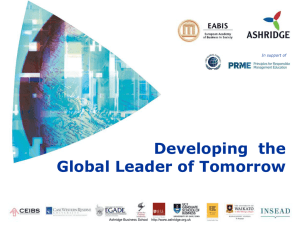 Developing the Global Leader of Tomorrow