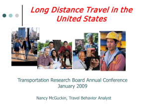 Long Distance Travel in the United States