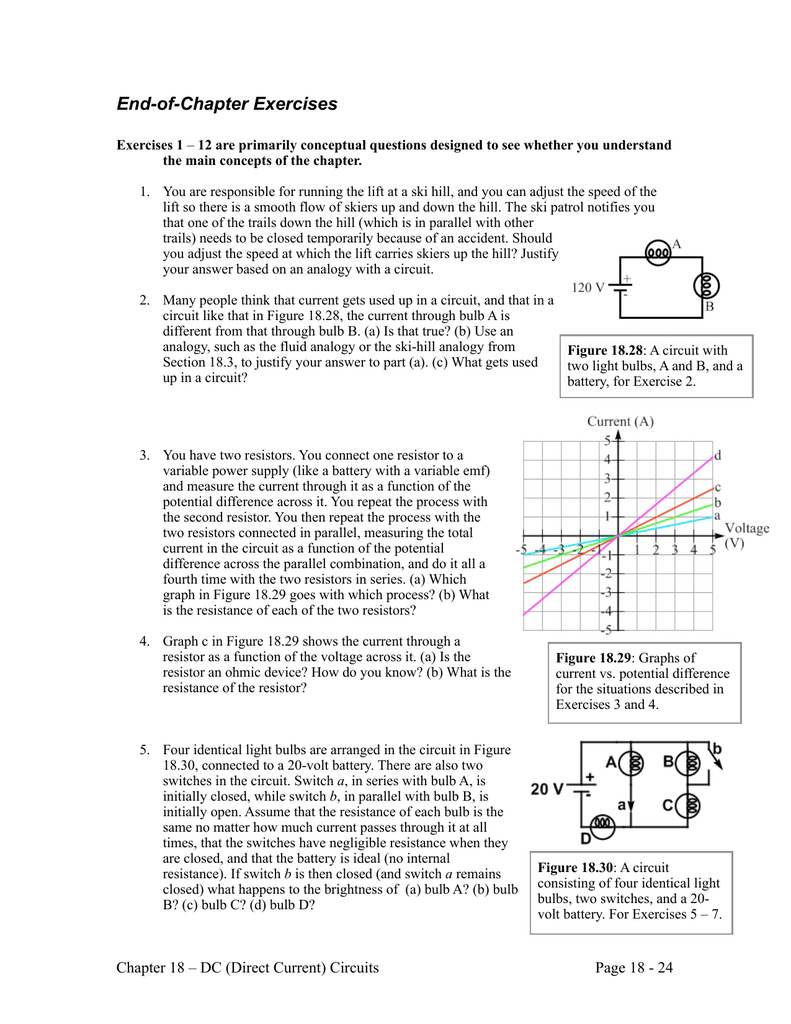 Chapter 18 Problems Capacitor In A Dc Circuit There Is 9v Battery Series With