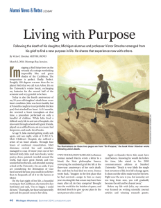 Living with Purpose - University of Michigan School of Public Health