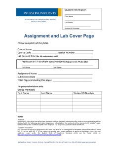 Assignment and Lab Cover Page