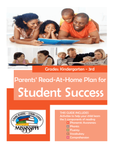 Parents` Read-At-Home Plan for - Mississippi Department of Education
