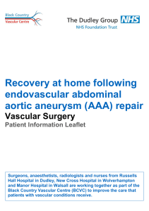 Recovery at home following endovascular abdominal aortic