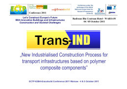 New Industrialised Construction Process for transport