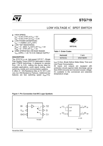 Low voltage 4 SPDT switch