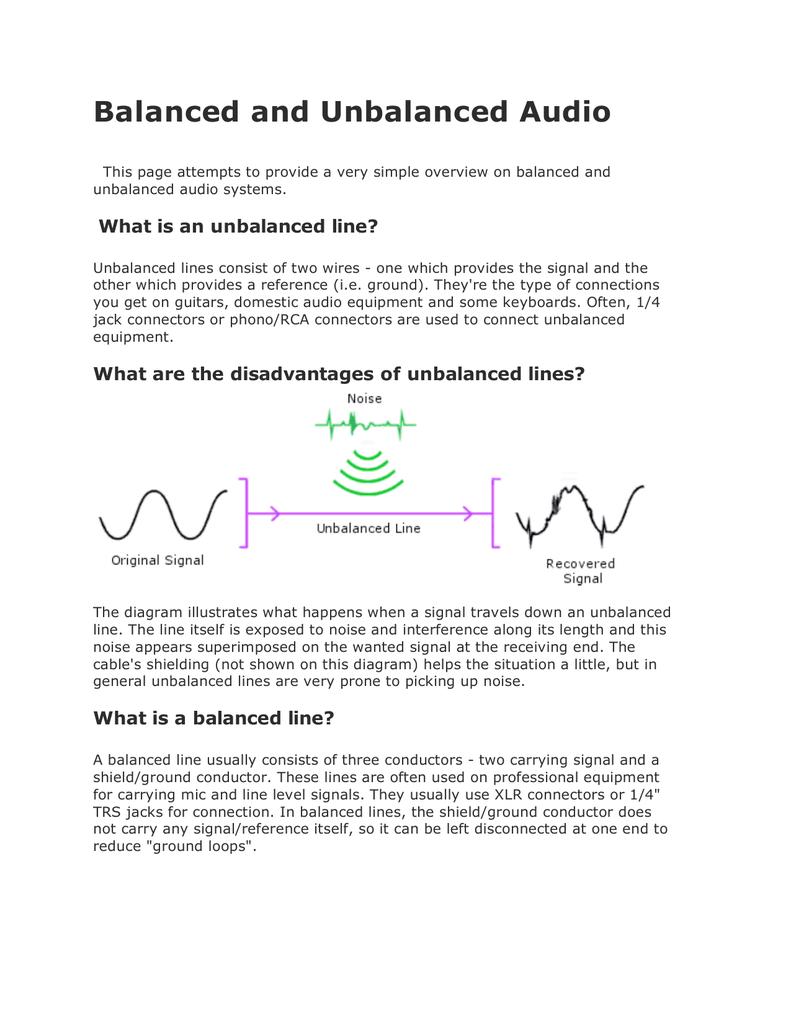 Unbalanced 1 4 Jack Wiring - List of Wiring Diagrams on