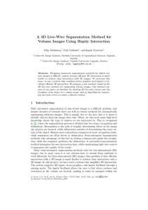A 3D Live-Wire Segmentation Method for Volume Images Using