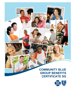 Community Blue Group Benefits Certificate