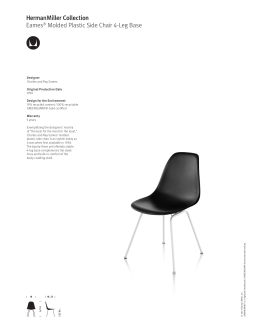 Eames Molded Plastic Chairs product sheets