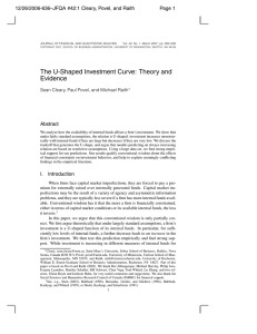 The U-Shaped Investment Curve: Theory and Evidence