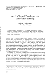 Are U-Shaped Developmental Trajectories Illusory?