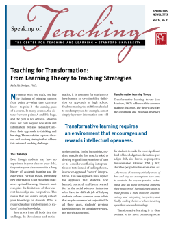 From Learning Theory to Teaching Strategies