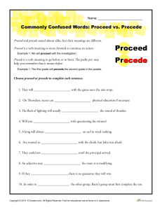 Commonly Confused Words: Proceed vs. Precede