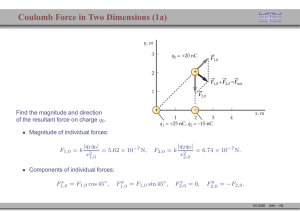 Coulomb Force in Two Dimensions (1a)