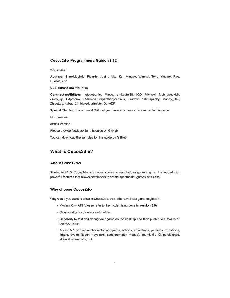 PDF Version - Cocos2d-x