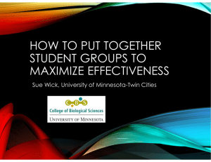 how to put together student groups to maximize effectiveness