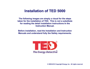 Installation of TED 5000