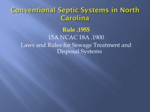 Conventional Septic Systems in North Carolina