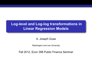 Log-level and Log-log transformations in Linear Regression Models