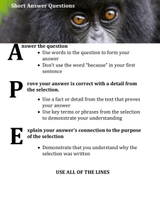 APE How to Answer an OSSLT