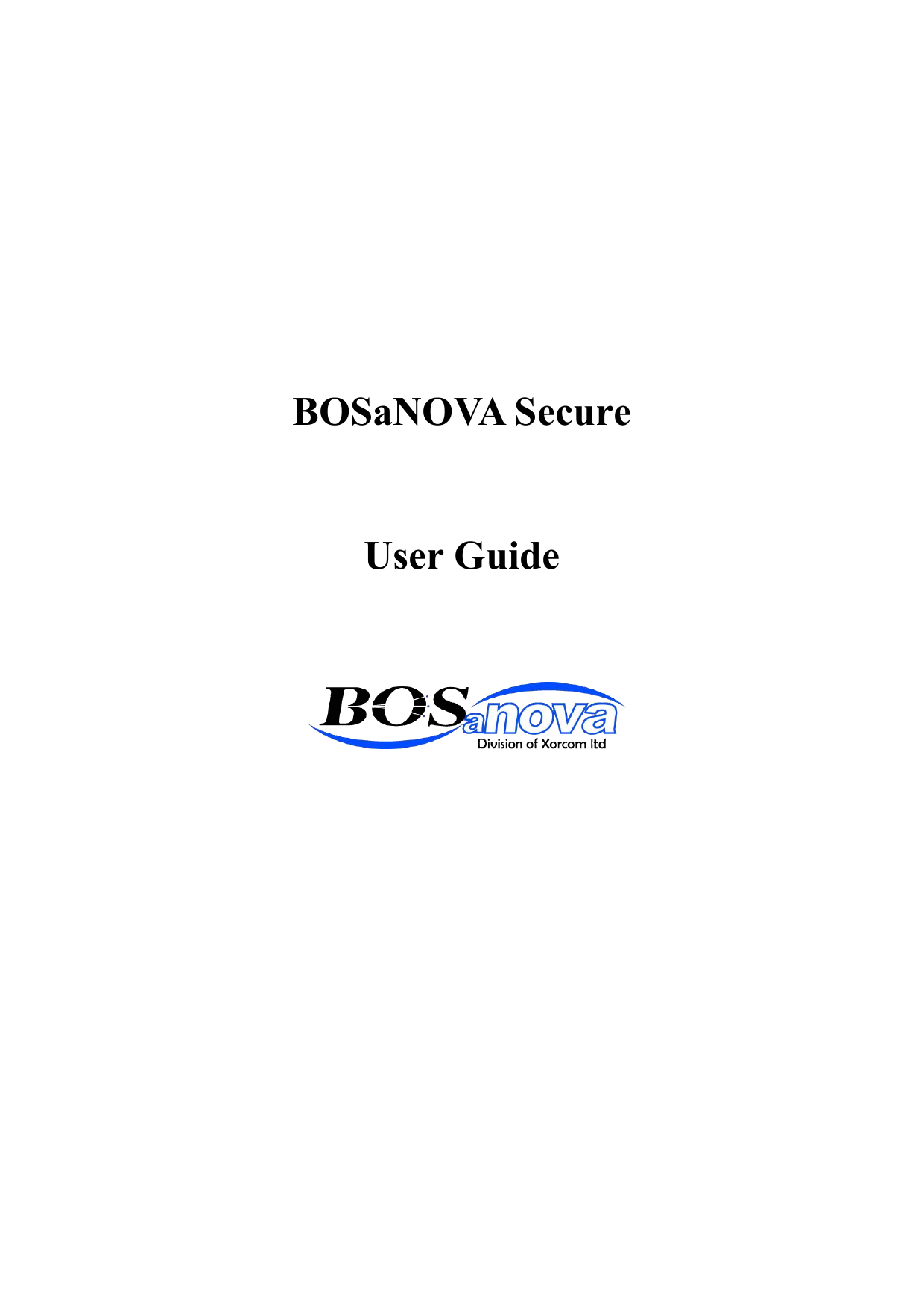 BOSaNOVA Secure User Guide