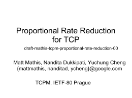 Proportional Rate Reduction