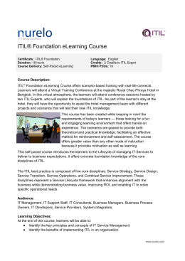 ITIL® Foundation eLearning Course