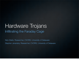 Hardware Trojans: Infiltrating the Faraday Cage