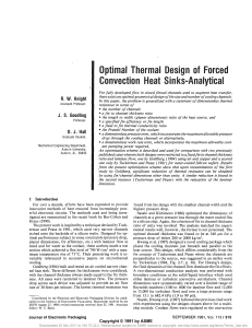 Optimal Thermal Design of Forced Conwection Heat Sinks