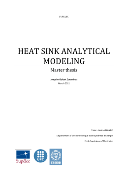 Heat Sink analytical modeling
