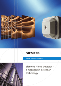 Siemens Flame Detector - a highlight in detection technology.