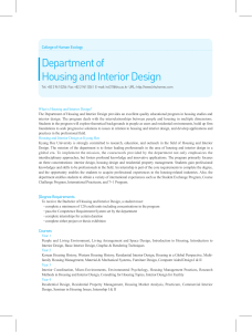Department of Housing and Interior Design