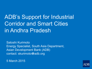 ADB`s Support for Industrial Corridor and Smart Cities in Andhra