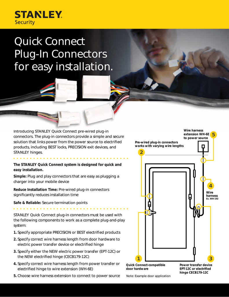 Quick Connect Plug-In Connectors for easy installation