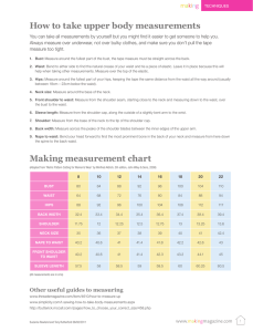 How to take upper body measurements Making measurement chart