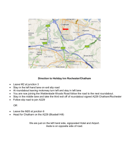 Direction to Holiday Inn Rochester/Chatham • Leave M2 at junction
