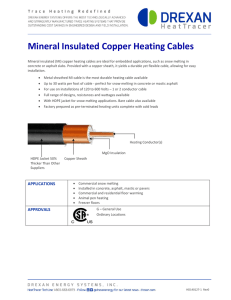 Mineral Insulated Copper Heating Cables