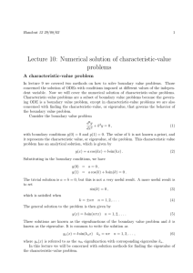Lecture 10: Numerical solution of characteristic