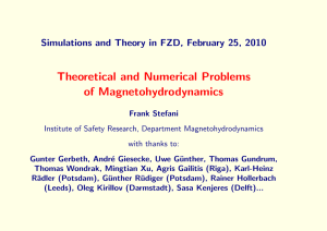 Theoretical and Numerical Problems of