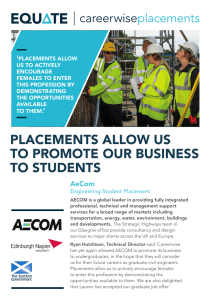 PlACements Allow us to Promote our business to students