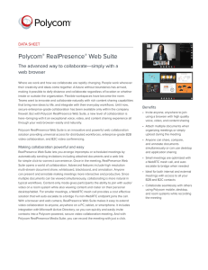 RealPresence Web Suite Data Sheet