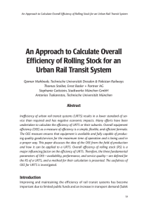 An Approach to Calculate Overall Efficiency of Rolling Stock for an