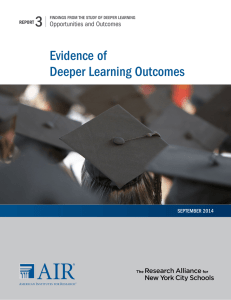 Evidence of Deeper Learning Outcomes