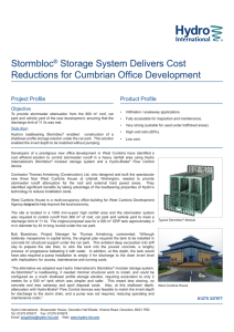 Stormbloc® Storage System Delivers Cost Reductions for Cumbrian