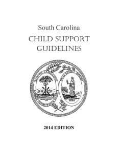 South Carolina Child Support Guidelines (2014