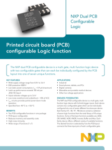 Printed circuit board (PCB) configurable Logic function