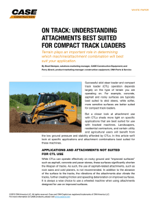 on track: understanding attachments best suited